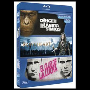 Pack Origen Planeta Simios+Braveheart+Club Lucha
