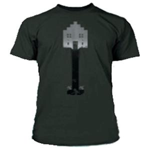 """Camiseta Minecraft """"Shovel"""" Negra Talla S"""