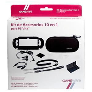 Kit Accesorios 10 en 1 para PSVita GAMEware