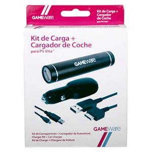 Kit de Carga + Cargador Coche PSVita GAMEware
