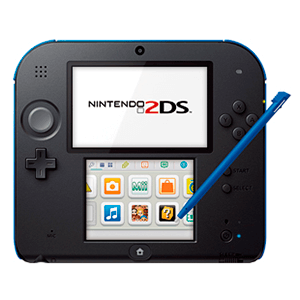 Nintendo 2ds Negro Azul Nintendo 3ds Game Es