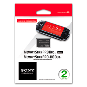 Tarjeta Memory Stick Pro Duo Sony 2Gb
