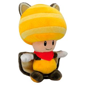 Peluche Toad Ardilla Voladora Amarilla Mario 20cm