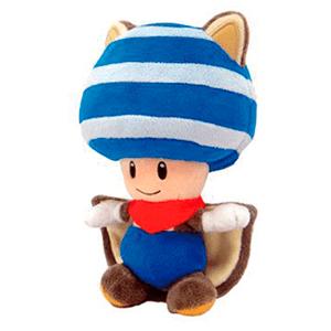 Peluche Toad Ardilla Voladora Azul Mario 20cm