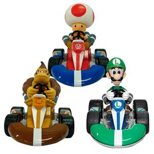 Vehiculo Retrofricción Mario Bros surtido 12cm