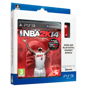 NBA 2K14 + Headset Bluetooth Licenciado Sony