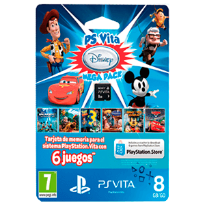 MegaPack Disney Tarjeta de Memoria 8 Gb +  6 juego