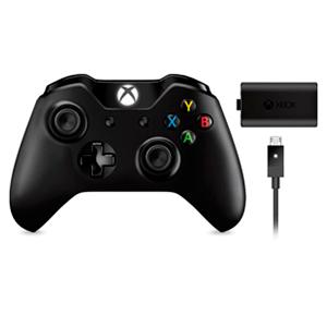 Controller Inalambrico Microsoft Negro + Kit de Carga Minijack 3'5''