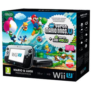 WiiU 32Gb Negra + Super Mario + Luigi
