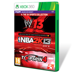 2K Sports Bundle: NBA 2K13 + WWE 13 + Top Spin
