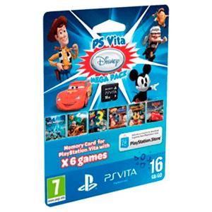 Tarjeta de Memoria Sony 16Gb + 6 JuegosnMegaPack Disney