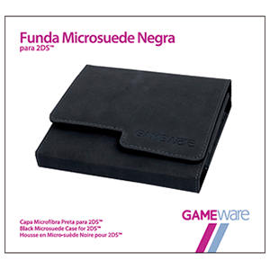 Funda Microsuede Negra para 2DS GAMEware