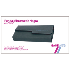 Funda Microsuede Negra para PS Vita GAMEware