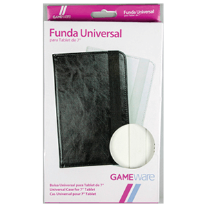 "Funda Universal Blanca/Negra Tablet 7"" GAMEware"