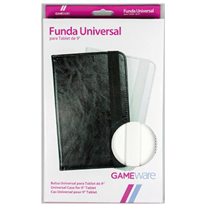"Funda Universal Blanca-Negra Tablet 9"" GAMEware"