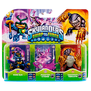 Skylanders Swap Force Triple Pack F: Dune Bug + Cynder + Terrafin