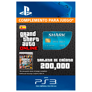 GTA Online: Tiger Shark Cash Card (PS3)