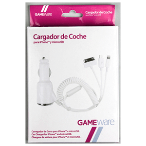 Cargador de coche iPhone/MicroUSB GAMEware