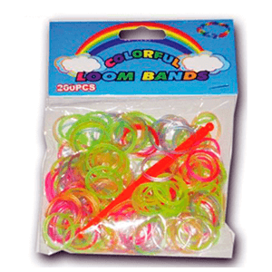 Bolsa 200 Gomas Colores variados Krazy Looms
