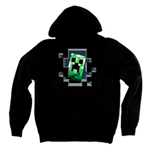 "Sudadera Minecraft ""Creeper Inside"" Talla XL"