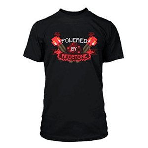 "Camiseta Minecraft ""Powered by Redstone"" Talla M"