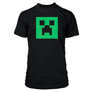 "Camiseta Minecraft ""Creeper Glow in Dark"" Talla L"