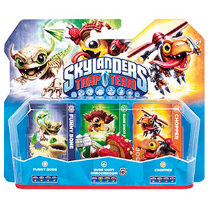 Skylanders Trap Team Triple Pack: Funny Bone + Shroomboom + Chopper