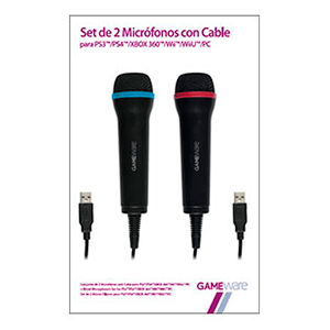 Set de 2 Micrófonos con Cable GAMEWare
