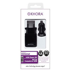 Set de Cargadores USB 1A Khora