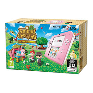 Nintendo 2DS Rosa + Animal Crossing (Preinstalado)