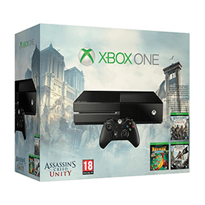 Xbox One 500Gb + Assassin's Creed: Unity + Assassin's Creed IV: Black Flag + Rayman Origins