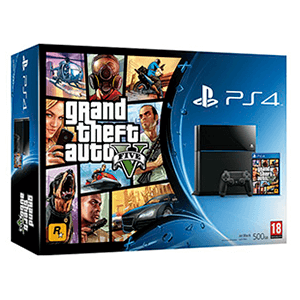 Playstation 4 500Gb + Grand Theft Auto V