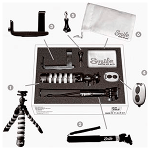 Smile Selfie Kit: Stick + Trípode + Disparador + Bolsa