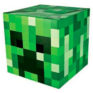 Cabeza de Cartón Creeper (Minecraft)