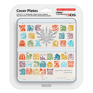 New 3DS Carcasa: Monster Hunter 4 Blanco
