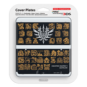 New 3DS Carcasa: Monster Hunter 4 Negro