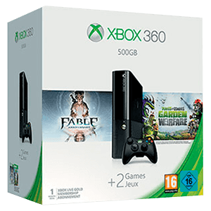 Xbox 360 500Gb + Fable Anniversary + Plantas vs Zombies