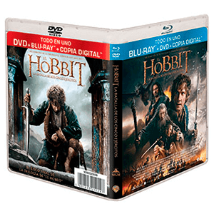 El Hobbit: La Batalla 5 Ejércitos Bluray + DVD + Copia Digital