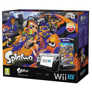 WiiU 32Gb Negra + Splatoon
