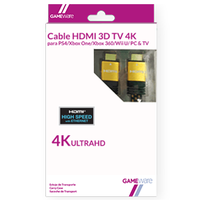 Cable HDMI 3D TV 4K GAMEware