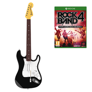 Rock Band 4 + Guitarra Stratocaster Negra