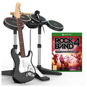 Rock Band 4 + Guitarra Stratocaster+Batería+Micro