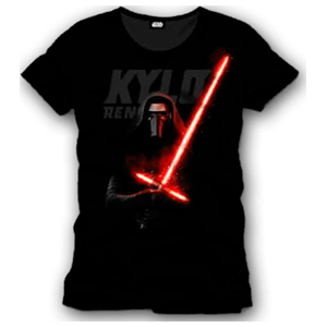 Camiseta Star Wars Negra Kylo Ren Talla L