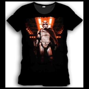 Camiseta Star Wars Negra Captain Phasma Talla M