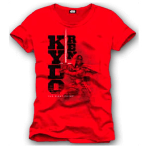 Camiseta Star Wars Roja Kylo Ren Talla M
