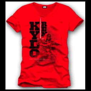 Camiseta Star Wars Roja Kylo Ren Talla L