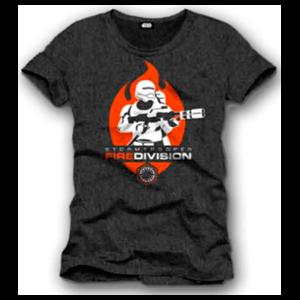 Camiseta Star Wars Negra Fire Division Talla L