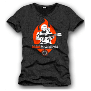 Camiseta Star Wars Negra Fire Division Talla XL