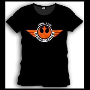 Camiseta Star Wars Negra Join Resistance Talla XL