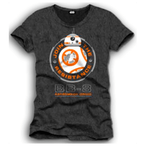 Camiseta Star Wars Negra BB-8 Talla XL